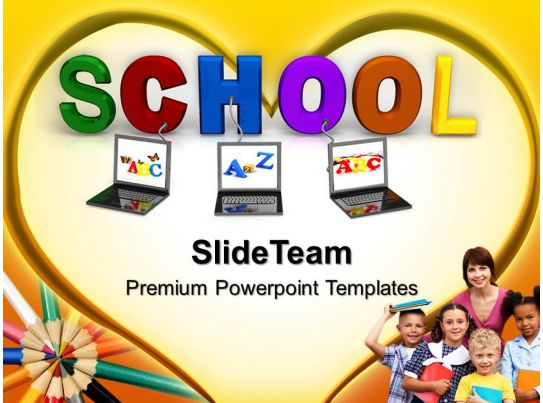Powerpoint Templates Education Theme Connected To School Ppt Layouts