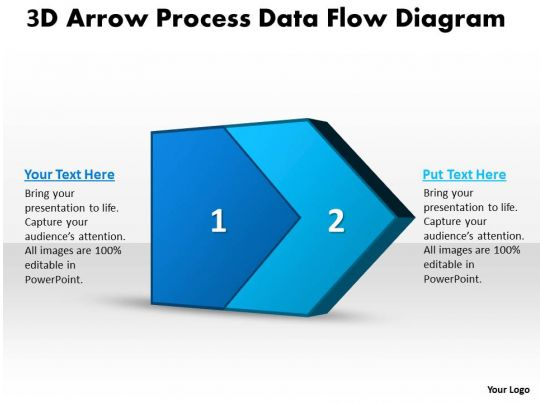 arrow flow chart template, Modern powerpoint