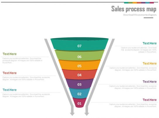 ppts sales process funnel map for lead generation powerpoint slides. Black Bedroom Furniture Sets. Home Design Ideas