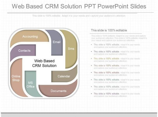 ppts web based crm solution ppt powerpoint slides powerpoint