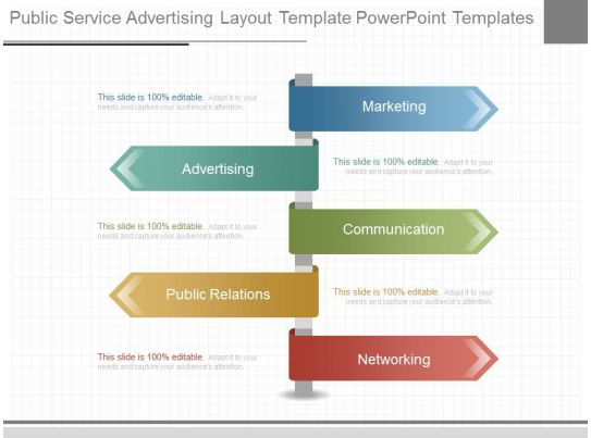 Pptx Public Service Advertising Layout Template Powerpoint Templates