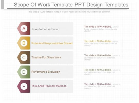 Pptx scope of work template ppt design templates for It scope of work template