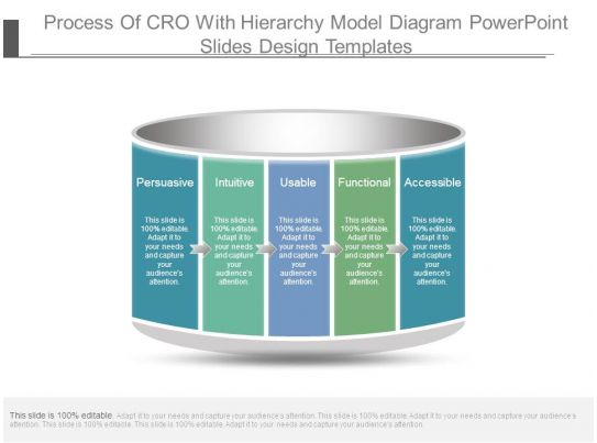 process of cro with hierarchy model diagram powerpoint slides design