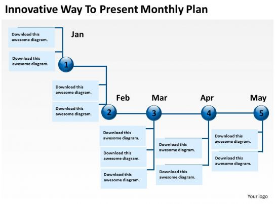 product roadmap timeline innovative way to present monthly plan powerpoint templates slides. Black Bedroom Furniture Sets. Home Design Ideas