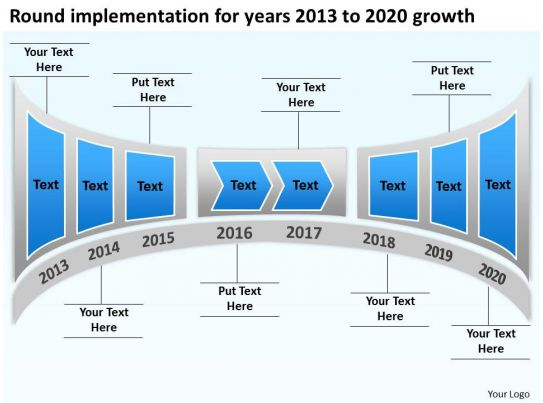 Product Roadmap Timeline Round Implementation For Years