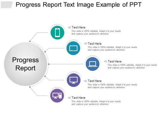 progress report text image example of ppt slide01