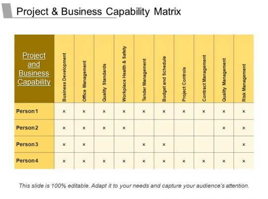 project and business capability matrix powerpoint