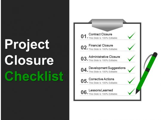 project closure checklist powerpoint templates