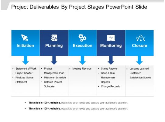project deliverable template - 44687710 style linear single 5 piece powerpoint
