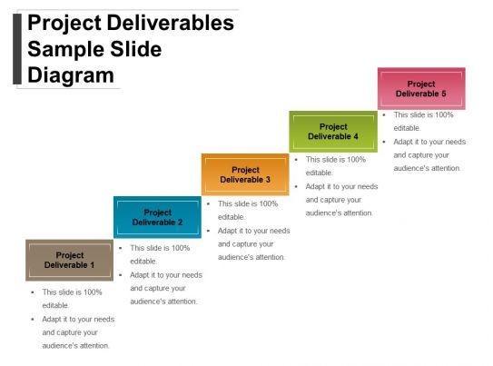 project deliverables sample slide diagram