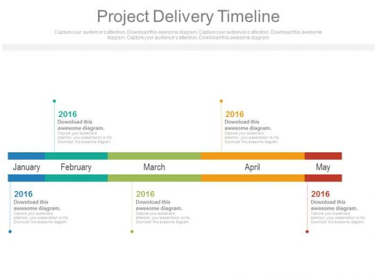 Awesome Business Slides Showing Project Delivery Timeline