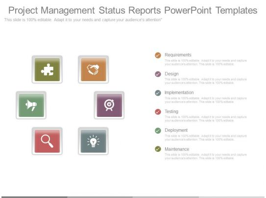 Project Management Status Reports Powerpoint Templates Powerpoint