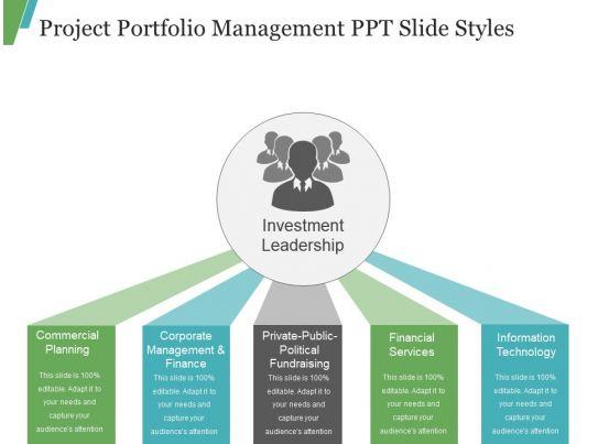 project portfolio management ppt slide styles