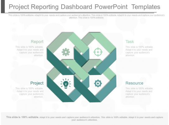 Project Reporting Dashboard Powerpoint Templates Template