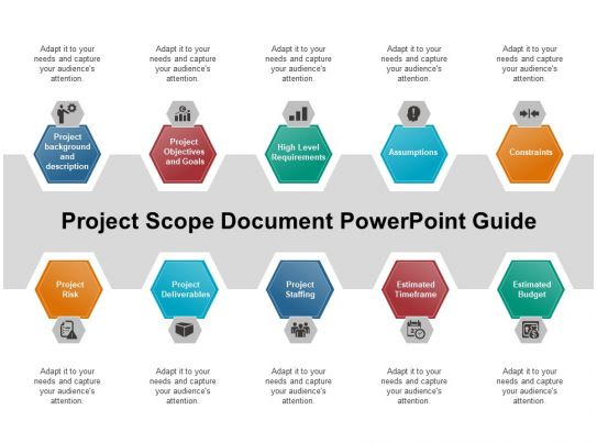 project scope document powerpoint guide