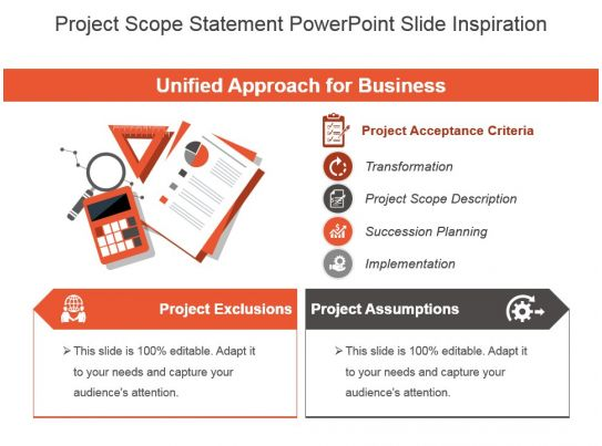 project scope statement powerpoint slide inspiration