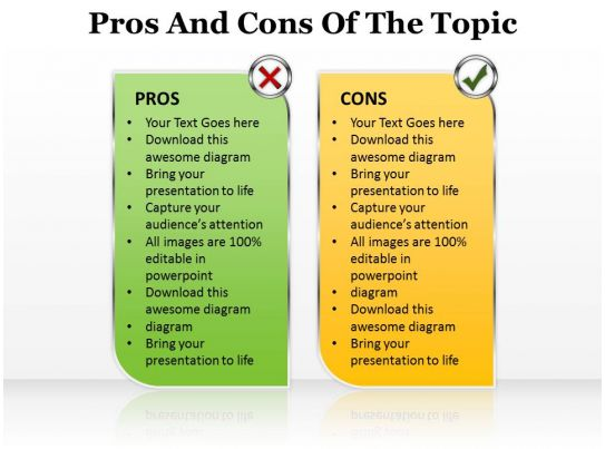 Pros and cons of the topic editable 14 ppt images for Pros and cons matrix template