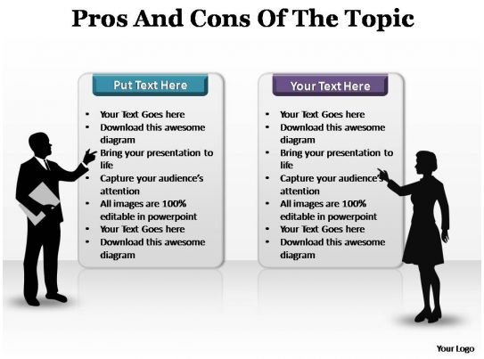 pro and con essay topics pros and cons of the topic editable  pros and cons of the topic editable powerpoint templates