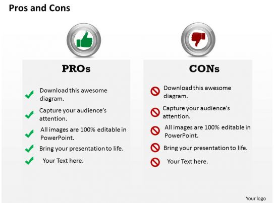 pros and cons document template