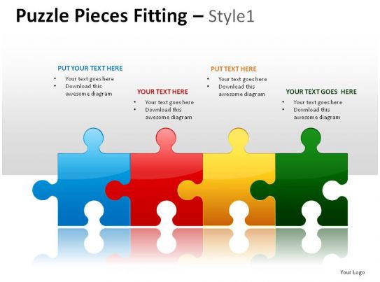Puzzle Pieces Fitting Style 1 Powerpoint Presentation