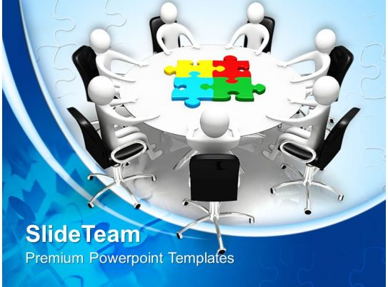 puzzle pieces powerpoint templates board meeting and