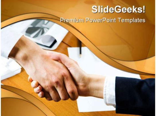 agreement business handshake powerpoint templates and