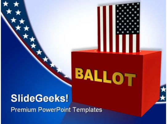 american ballot box government powerpoint templates and