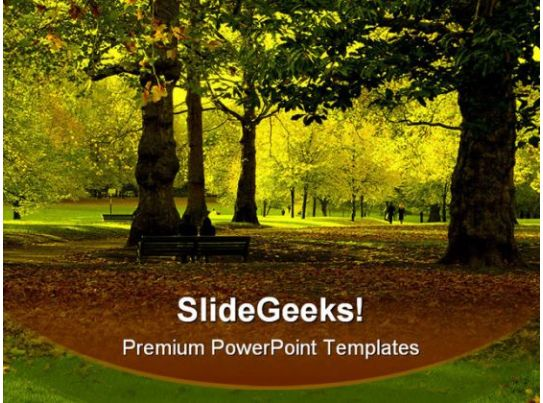 autumn park nature powerpoint templates and powerpoint