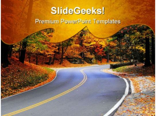 autumn road nature powerpoint templates and powerpoint