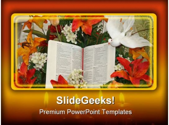 bible and dove religion powerpoint templates and