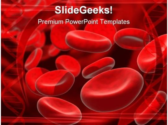 Blood cells medical powerpoint template 0610 templates for Blood ppt templates free download