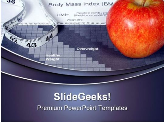 Body Mass Index Chart Health PowerPoint Templates And PowerPoint – Bmi Index Chart Template