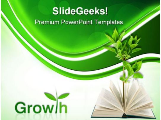 book and plant business powerpoint templates and
