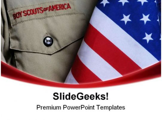 Bsa uniform americana powerpoint templates and powerpoint for Eagle scout powerpoint template