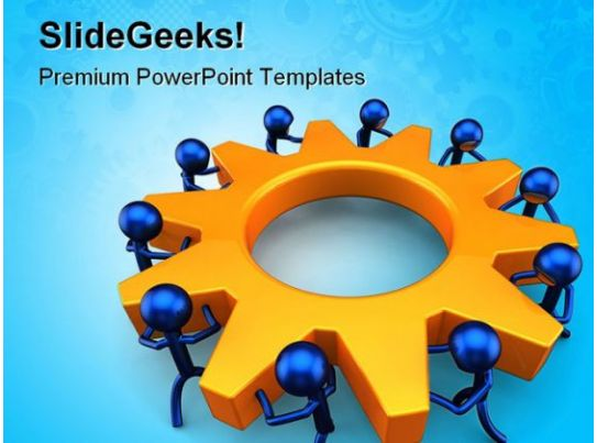 team building powerpoint presentation templates - business process teamwork powerpoint templates and