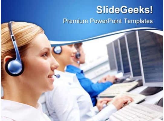 call center executives business powerpoint templates and