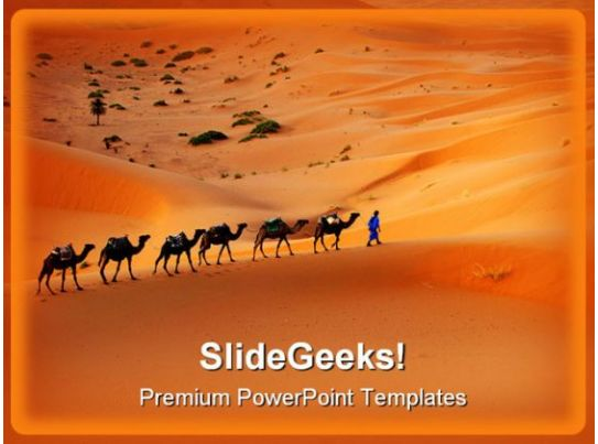camel animals powerpoint templates and powerpoint