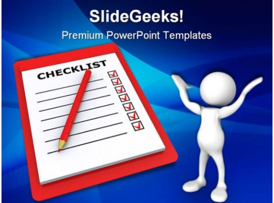 checklist business powerpoint templates and powerpoint