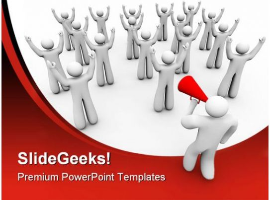 Cheering With The Team Teamwork PowerPoint Backgrounds And Templates ...