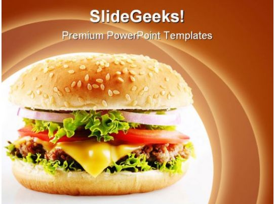 Cheese Burger Food Powerpoint Templates And Powerpoint Backgrounds