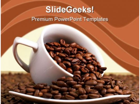 coffee and beans food powerpoint templates and powerpoint backgrounds 0311