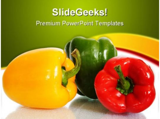 colorful peppers food powerpoint templates and powerpoint