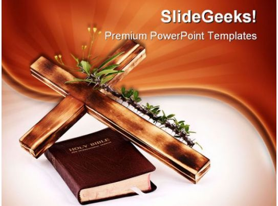 Cross And Bible Religion Powerpoint Templates And