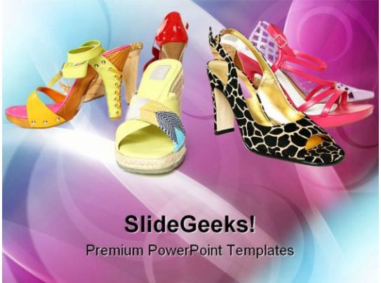 fashion designing templates free download - different footwear fashion powerpoint templates and