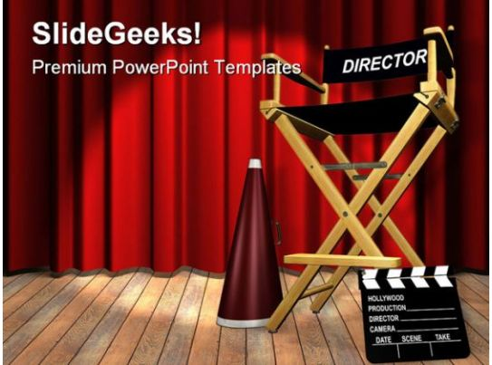 Director Chair Entertainment Powerpoint Templates And Powerpoint