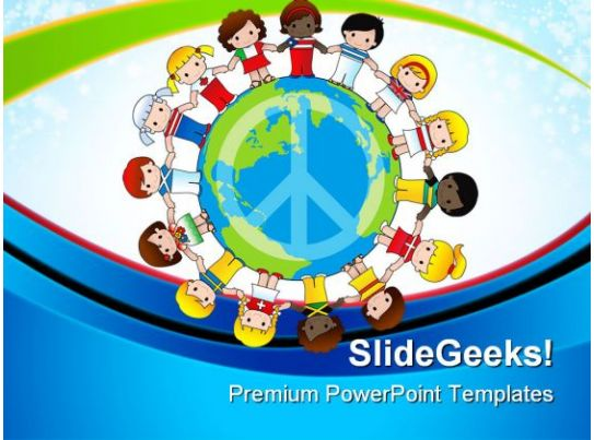 diversity of children global powerpoint templates and