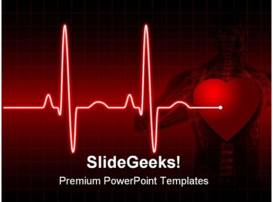 cardiac ppt template - ecg medical powerpoint template 0610 presentation
