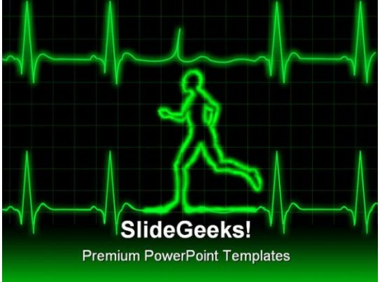 ecg runner sports powerpoint template 0610 ppt images gallery