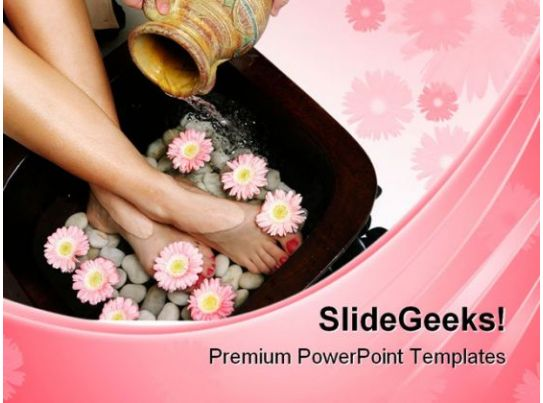 feet spa beauty powerpoint templates and powerpoint