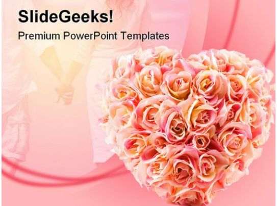 Flowers Wedding Powerpoint Template 0610 Powerpoint Templates